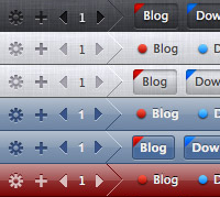 The ButtonBar+ bookmark bar styles
