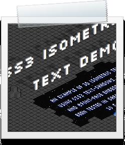 CSS3 Isometric Text Demo