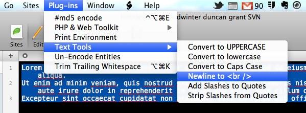 Text Tools Plugin for Coda