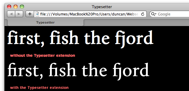 Preferences for the Typesetter extension