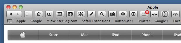 Safari browser window with bookmarks bar