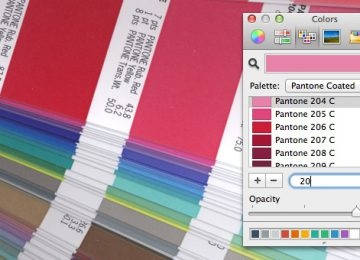 How I created a set of Pantone swatches for the Mac OSX color picker