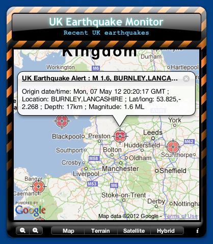 UK Earthquake Monitor
