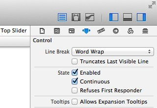 making the slider continuous in xCode