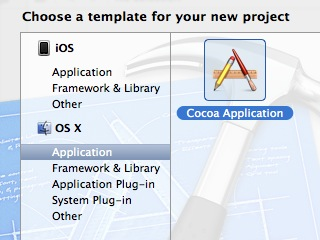 creating a new project in xCode