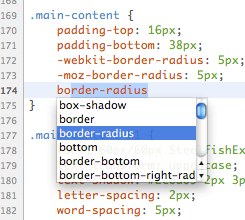 CSSEdit with auto-completion for all CSS3 properties and values