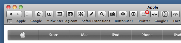 Safari browser window with bookmarks bar