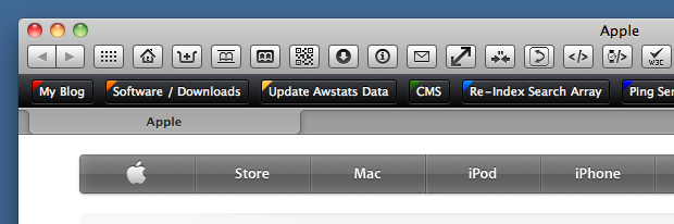 Button Bar Safari Extension