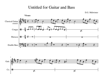 Untitled for Guitar and Bass